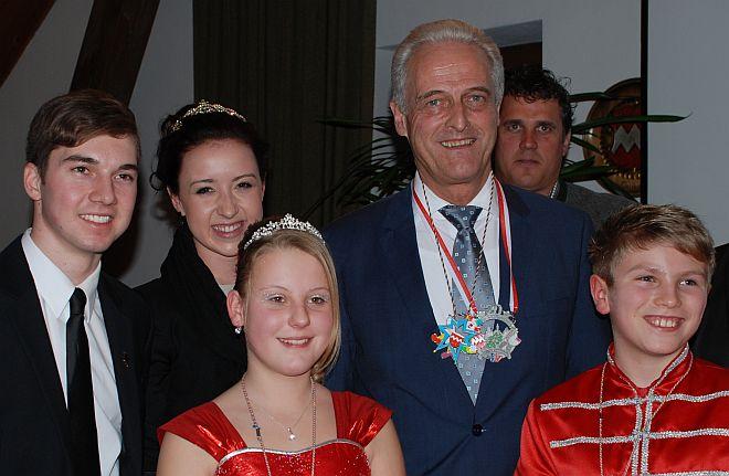 Bundesminister mit Prinzenpaaren