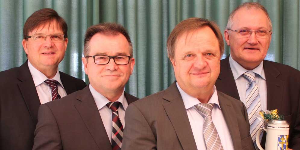 Bild (v.l.n.r.)Albert Vogeler (Schweitenkirchen), Karl Huber (Ernsgaden), Anton Steinberger (Ilmmünster) und Manfred Russer (Hohenwart)